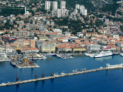 Rijeka - Port town in western Croatia